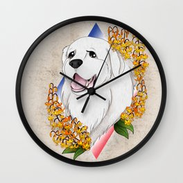 Great Pyrenees Pet Portrait Wall Clock