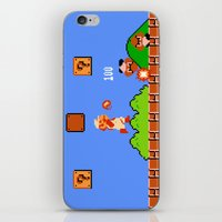 mario bros iPhone & iPod Skins featuring Super Mario Bros by Trash Apparel