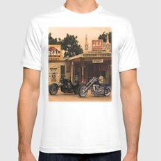 Trip through the past. MEDIUM Mens Fitted Tee White