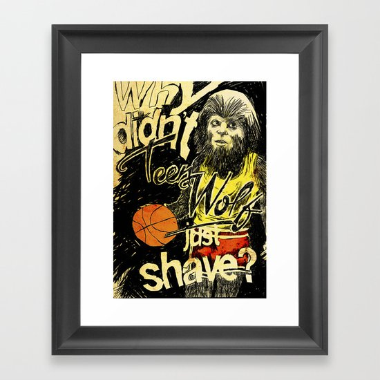 Teen Wolf Framed Art Print