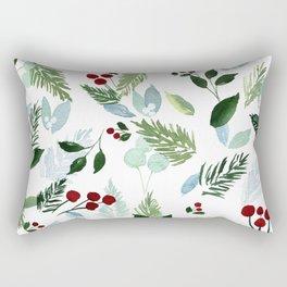 Blue Christmas Rectangular Pillow