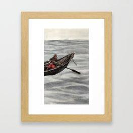 Boating Out Framed Art Print
