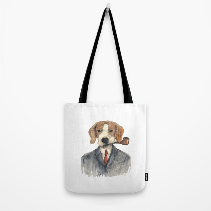 Monsieur Beagle Tote Bag