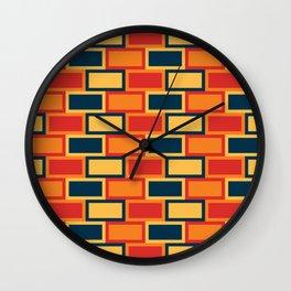 Rectangular Seamless Pattern 008#002 Wall Clock