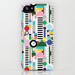 Memphis Milano Postmodern City Towers iPhone Case