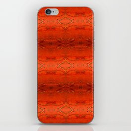 Rustic Orange Geometric Southwestern Pattern - Luxury - Comforter - Bedding - Throw Pillows - Rugs iPhone Skin