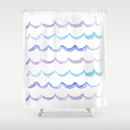 Life is Swell - Ombre Waves Shower Curtain