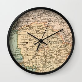 Vintage and Retro Map of India Wall Clock