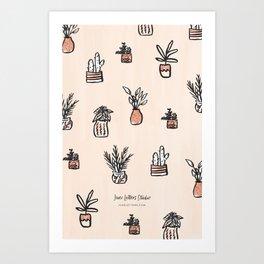 Little Potted Plants Art Print