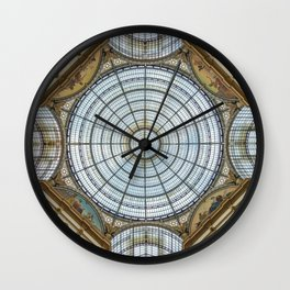 Ceiling of the Galleria Vittorio Emanuele II, Milan Wall Clock