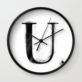 U. - Distressed Initial Wall Clock