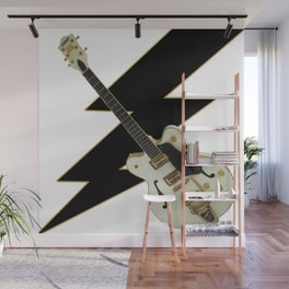 Black and White Guitar Wall Mural