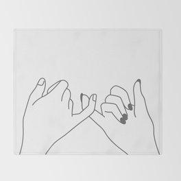 Pinky Promise 3 Throw Blanket