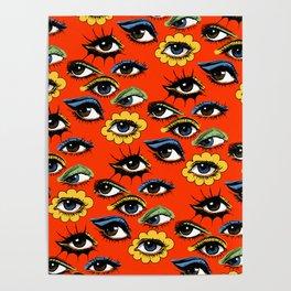 60s Eye Pattern Poster