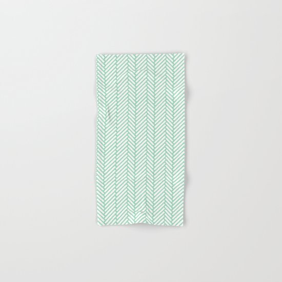 Herringbone Mint Hand & Bath Towel