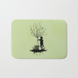 She Spins The Stars Bath Mat