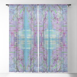 Purple Watercolor Tapestry Sheer Curtain