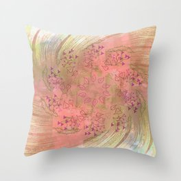 Autumn leaves in a perfect storm Throw Pillow