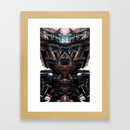palais de justice bruxelles roschach symmetry Framed Art Print