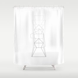 Chess Collectible – Figures Superimposed (Globally Local Media) Shower Curtain