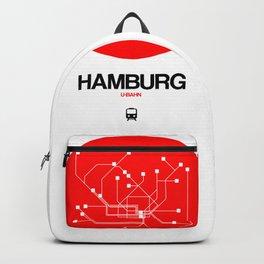 Hamburg Red Subway Map Backpack