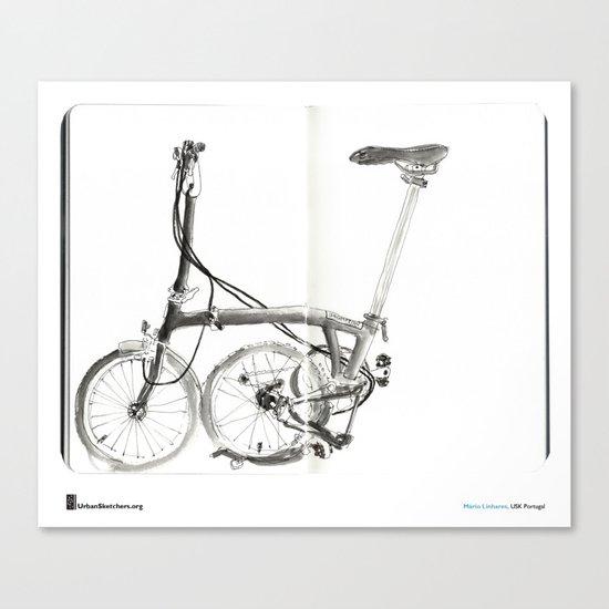 "Mário Linhares, ""Brompton Bicycle"" Canvas Print"