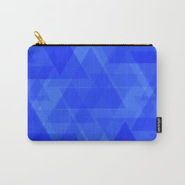 Gentle dark blue triangles in the intersection and overlay. Carry-All Pouch