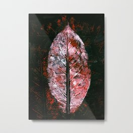 Mark Red Metal Print
