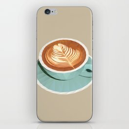 Coffee with Latte Art Polygon Art iPhone Skin