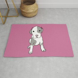 Millie The Pitbull Puppy Rug