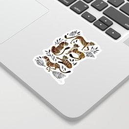 Cheetah Collection – Mocha & Black Palette Sticker