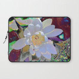 WATER LILLY WHITE Laptop Sleeve