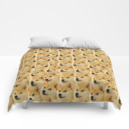 shibe doge fun and funny meme adorable Comforters