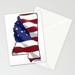 Patriotic Mississippi Stationery Cards