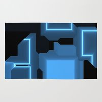 tron Area & Throw Rugs featuring Tron by Fine2art