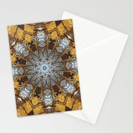 Golden stone, blue sky and arching branches kaleidoscope Stationery Cards