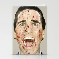 american psycho Stationery Cards featuring American Psycho by JackyAttacky