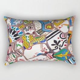 Gaudi tiles Barcelona Rectangular Pillow