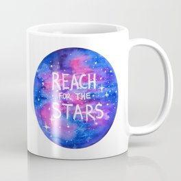 Reach For The Stars Galaxy Watercolor Coffee Mug