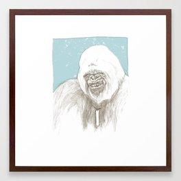 The Yeti Framed Art Print