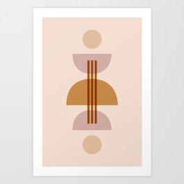 Amber Abstract Half Moon 1 Art Print