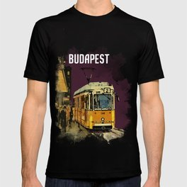 Retro Tram 2 in Budapest T-shirt