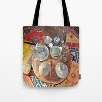 welcome Tote Bags featuring Welcome by Laake-Photos