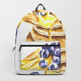 Pancake Stack Watercolor Painting Backpack