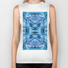 510 - Abstract Garden Design Biker Tank