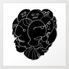 Heads N°9 Art Print