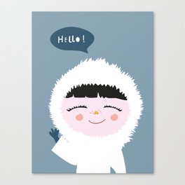 Cute little Eskimo Canvas Print