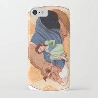 beauty and the beast iPhone & iPod Cases featuring Beauty and the Beast by Naineuh