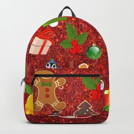 Cute Christmas Mix, red Backpack