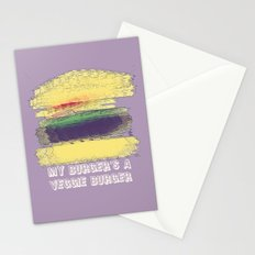 Veggie Burger (purple) Stationery Cards